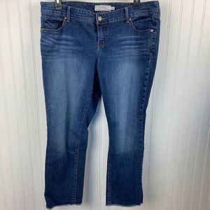 Torrid Frayed Hem Jeans Raw Hem Blue Jean 18